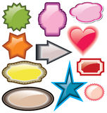 Design of advertisement labels stickers Royalty Free Stock Photo