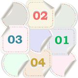 Design of advertisement numbers labels stickers Royalty Free Stock Photos