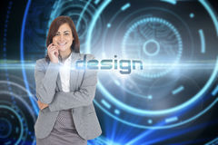 Design against futuristic technological background Royalty Free Stock Photos