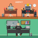 Design Agency Workers in Office Stock Photos