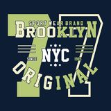 Design alphabet and numbers college brooklyn Royalty Free Stock Photography
