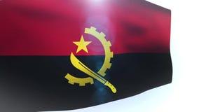 Design Angola flag waving wave. Video stock footage