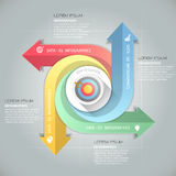 Design arrows infographic template 4 steps, Stock Photography