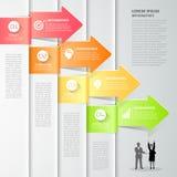 Design arrows infographics 4 steps. Vector illustration. Stock Image