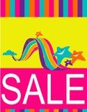 Design av affischen/reklambladet för shoppingförsäljning Royaltyfri Fotografi