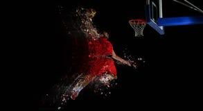 Design av basketspelaren i handling royaltyfri foto