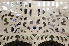 Design av bitande vitt tyg för abstrakt bakgrund Fotografering för Bildbyråer