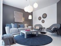 Design av den moderna vardagsrummet Royaltyfri Foto