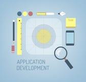Design av den nya symbolen för mobilios-applikation Royaltyfria Bilder