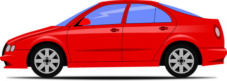 Design av den röda bilen Arkivbild