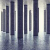 Design av den stora korridoren med kolonner Arkivfoto