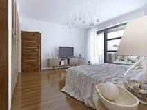 Design av det moderna sovrummet Royaltyfria Bilder