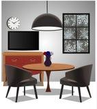 Design av en vardagsrum Arkivbilder