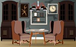 Design av en vardagsrum Fotografering för Bildbyråer