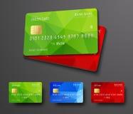 Design av ett kort för debitering för bankkreditering Arkivfoton