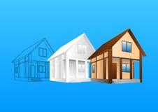 Design av Hause vektor illustrationer