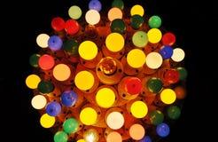 Design av ljusa kulor royaltyfri foto