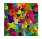 Design av stjärnor 3d vektor illustrationer