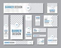 Design av vita baner av standarda format med ett ställe för en pho royaltyfri illustrationer