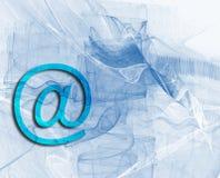 @-design in azzurro Immagini Stock