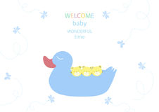 Design of baby shower cards, illustrations Royalty Free Stock Images