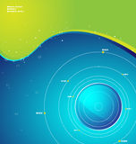 Design background. Vector design background with the ball and waves Stock Photo