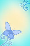 Design background butterfly. Blue sky Royalty Free Stock Image