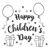 Design background childrens day collection Royalty Free Stock Photos