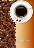 Design background with coffee. Vector. Royalty Free Stock Images