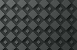 Design background with flying black rhombuses of different sizes Stock Images