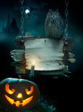 Design background for Halloween party Stock Photography