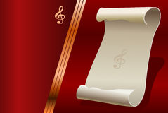Design for the background music Royalty Free Stock Photos