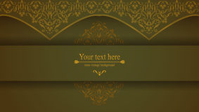 Design background with ornate floral pattern. Stock Images