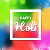 Design background with Realistic  Holi, Festival of colors powder. Vector illustration Stock Images