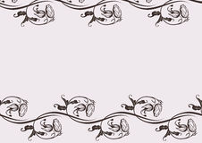 Design background with swirling decorative element. Design background with swirling floral decorative elements Royalty Free Stock Photo
