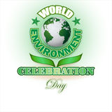 Design background  for World environment day, celebration Royalty Free Stock Image