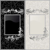 Design backgrounds. Black and gray design backgrounds Royalty Free Stock Photo