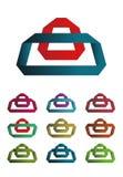 Design bag logo element Royalty Free Stock Image