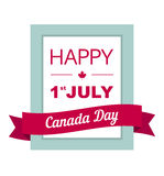 Design a banner for Canada Day 1 st of July. Stock Photography