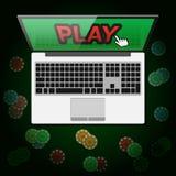 Design of banner casino online in vector Stock Photo