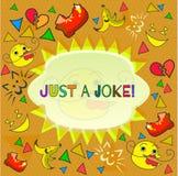 Design banner with just a joke logo vector illustration