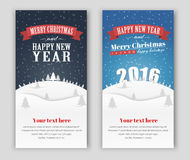 Design banner Merry Christmas and Happy New Year Royalty Free Stock Photo