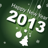 Design, banner, new year 2013. Vector illustration, design, banner, new year 2013 stock illustration