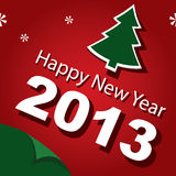 Design,  banner, new year 2013 Royalty Free Stock Photography