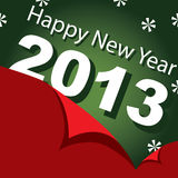 Design,  banner, new year 2013. Vector illustration,  banner New Year 2013 Stock Photos