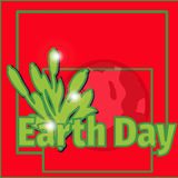Design banner poster for Earth Day.vector illustration. Typographic design banner, poster for Earth Day. vector illustration Royalty Free Stock Photography