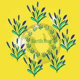 Design banner poster for Earth Day.vector illustration. Typographic design banner, poster for Earth Day. vector illustration Stock Images