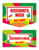 Design banner template discounts. On a white background. big sale, . Sale and special offer vector illustration