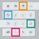 Design banners template graphic witf icon Stock Photography