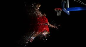 Design of basketball player in action Royalty Free Stock Photo